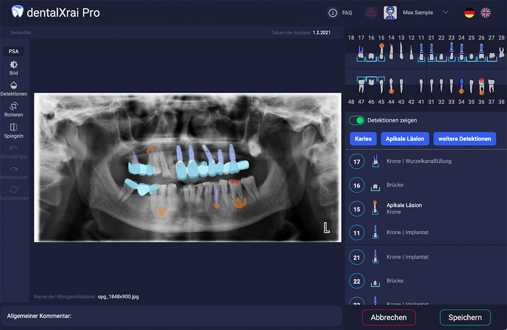 Assistenz-Software für die Zahnmedizin